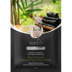 Бьюти-маска для лица «Черный бриллиант», SKIN TRIUMPH TianDe 1шт