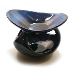 Аромалампа керамическая синяя (12,5х10,5х8,5 см)