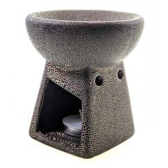 Аромалампа керамическая коричневая (10х9х9 см)