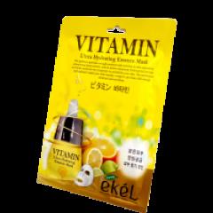 Восстанавливающая тканевая маска для чувствительной кожи с витамином С Ekel
