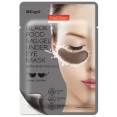 Маска черная питательная под глаза Purederm Black Food MG Under Eye Mask, 14 г.