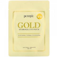 Гидрогелевые патчи для глаз с золотым комплексом +5 - PETITFEE Gold Hydrogel Eye Patch, 1 пара