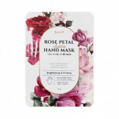 Укрепляющая маска-перчатки для рук KOELF Rose Petal Satin Hand Mask, 16г