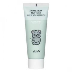 Увлажняющая глиняная маска для лица Skin79 Animal Color Clay Mask Dry Monkey, 70 г