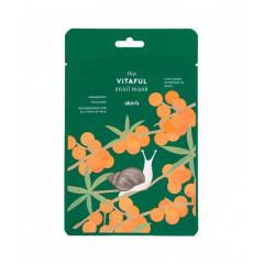 Увлажняющая тканевая маска для лица с муцином улитки и облепихой Skin79 The Vitaful Snail Mask, 20 г