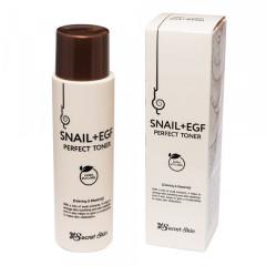 Тонер для лица с муцином улитки Secret Skin Snail+Egf Perfect Toner, 150 мл